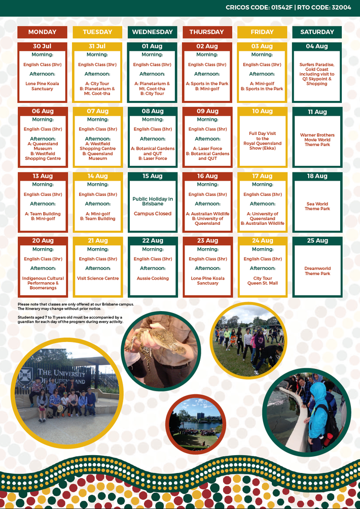 Shafston 2018 Summer Camp Timetable 2