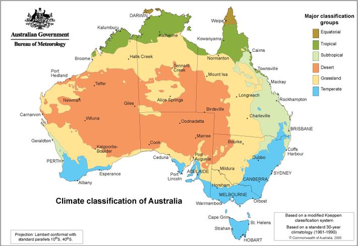 オーストラリア気候区分