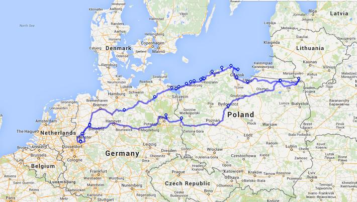 Ein Jahr später die Tour nachzuzeichnen ist gar nicht so einfach....aber so ähnlich war unser Streckenverlauf :)