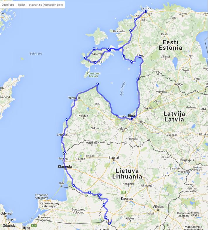 Unsere Route bis zu meinem Heimatland Polen