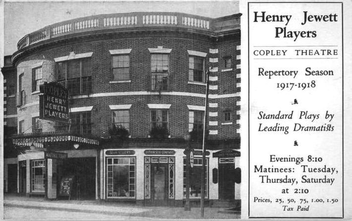 1917  Jewett - Copley Theatre, Boston, Massachusetts
