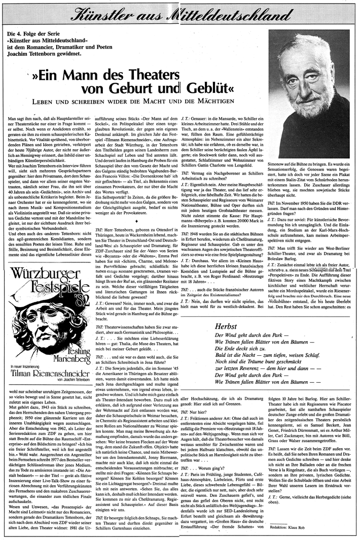 Thüringer Tageszeitung, 4/89