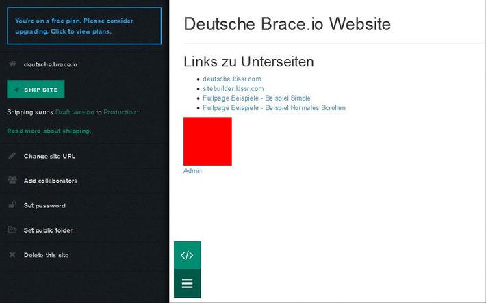 Brace.io Site Admin