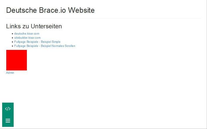 Admin-Bereich Brace.io