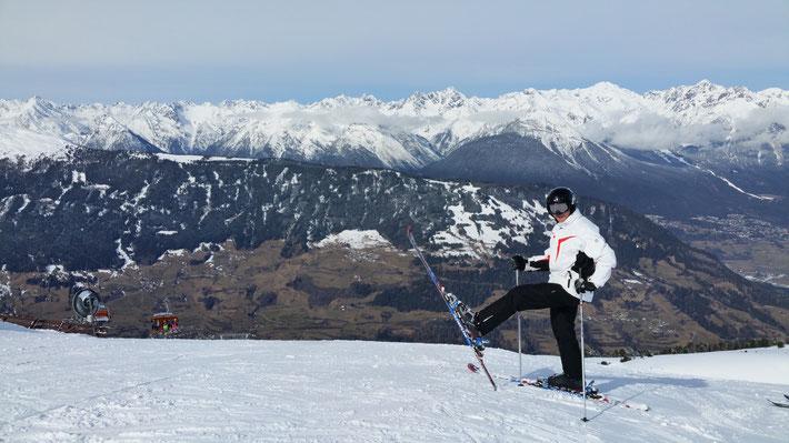 Dominik Sowieja Skifahren Pitztal Hochzeiger Bergstation