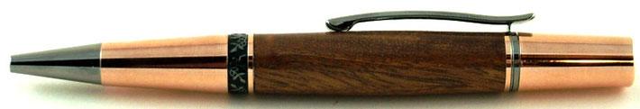 Drehkugelschreiber Mahagoni Holz
