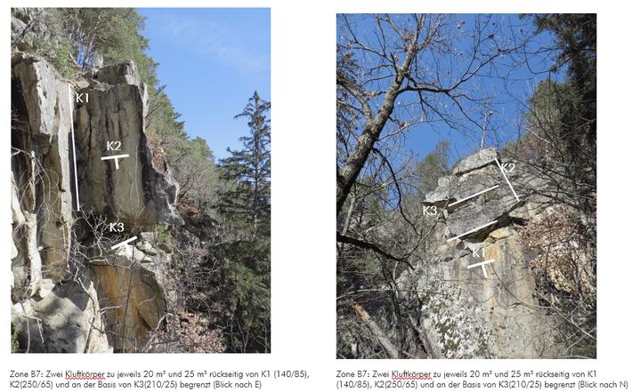 Geländeerhebung für Steinschlaguntersuchung