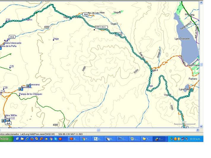 La parte más interesante del track, fue después de Laguna Grande, el total del recorrido fueron un poco más de 300 kilómetros.