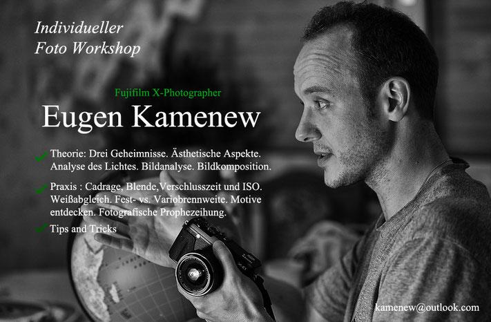 Fotoworkshop, Individuelle Fotokurse, Seminar, Eugen Kamenew, X-Photographer
