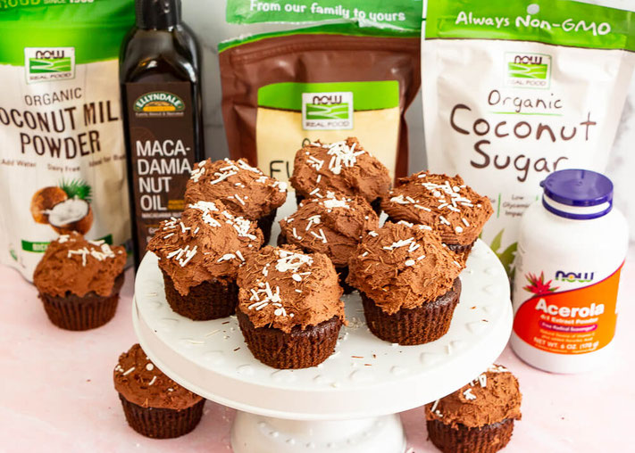 Get ready to bake vegan cupcakes! It will become one of your favorite vegan dessert recipes, plus it's also one of the top gluten free desserts out there. #ad #cupcakes #vegandessert #glutenfree #healthydessert @nowfoods