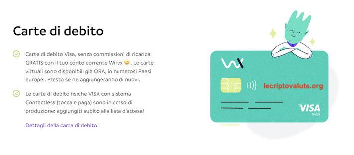 wirex italiano carta di credito come funziona