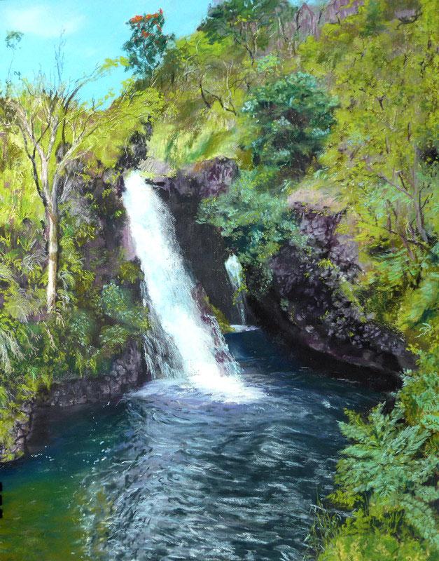 Maui, Hana,Coast,Pacific, pastelpainting,wave