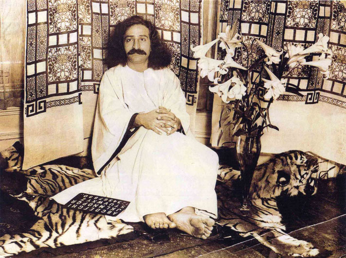 1932 : Meher Baba at the Davy's home in London, England. Courtesy of Glow International Magazine - Spring 2015 p.20