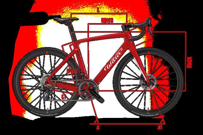 Wilier CENTO10HYBRID Geometrie Italian Cycle Experience