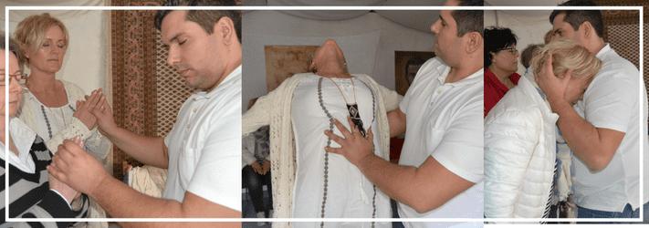 Geistheiler Jesus Lopez bei seiner Arbeit im Medio.Rhein.Erft in Bergheim vor einem Geistheilungstag, Verlinkung Youtube