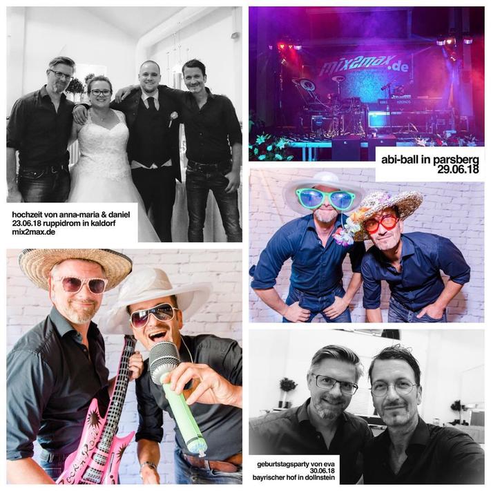 Hochzeitsband & Partyband mix2max, in Parsberg, Oberpfalz,  Kaldorf & Dollnstein, Oberbayern
