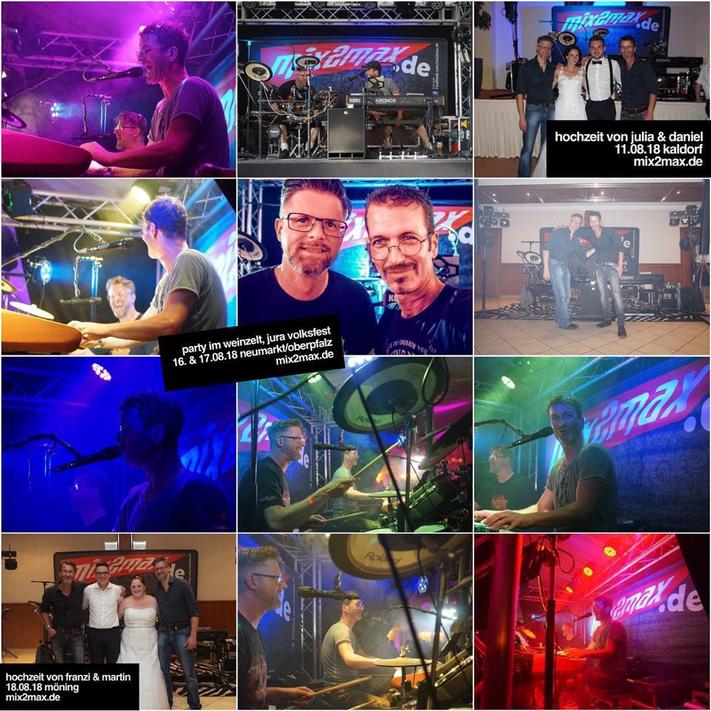 Hochzeitsband & Partyband mix2max in Bayern