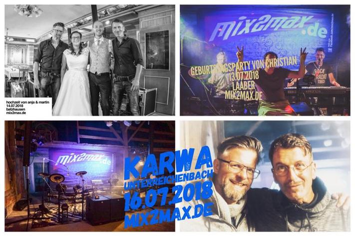 Hochzeitsband & Partyband mix2max, in Regensburg & Schwabach, Bayern