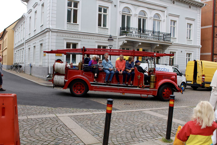 Wallander-Tour in Ystad mit historischem Löschfahrzeug