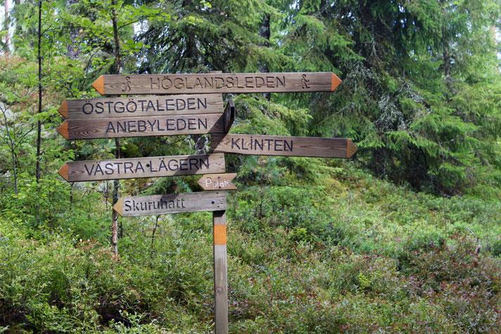 Noch Lust auf Laufen? Über den 454 Kilometer langen Rundweg Höglandsleden kommt man auch nach Mariannelund zu unserer Stuga