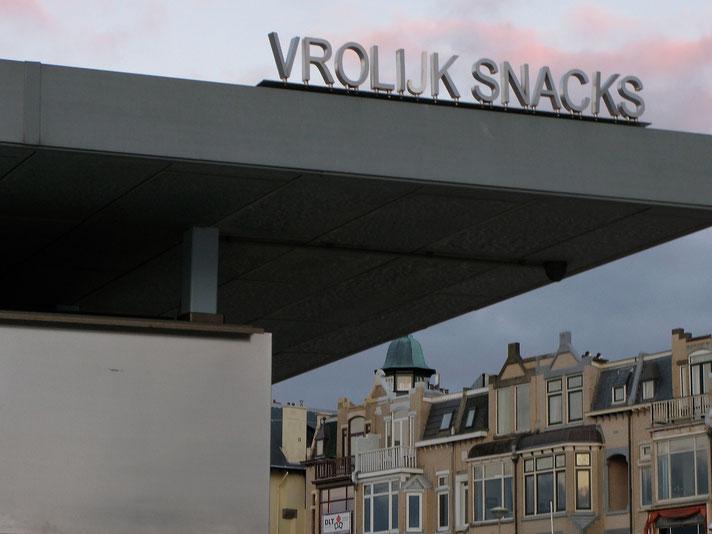 Snackbars auf dem Boulevard von Scheveningen