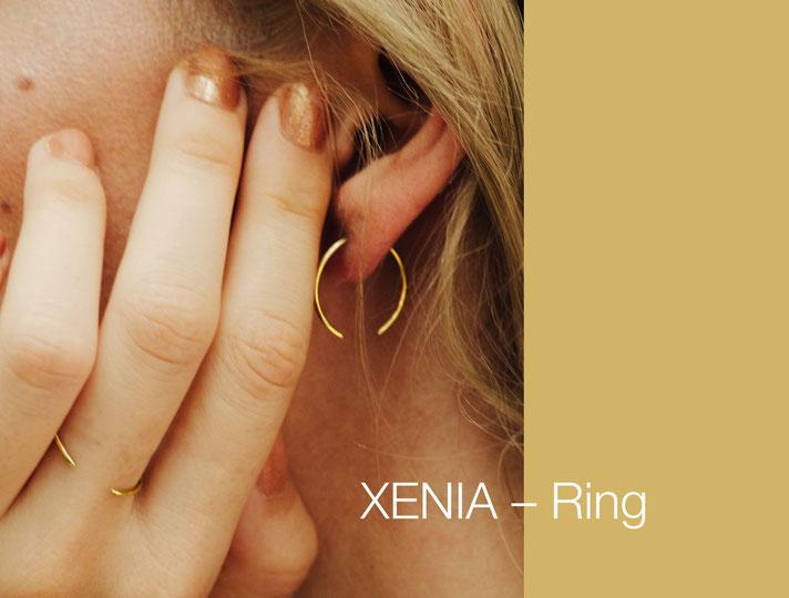 XENIA Ring von ST'ATOUR Inovativer Schmuck kann als Fingerring oder Ohrring getragen werden Multifunktional