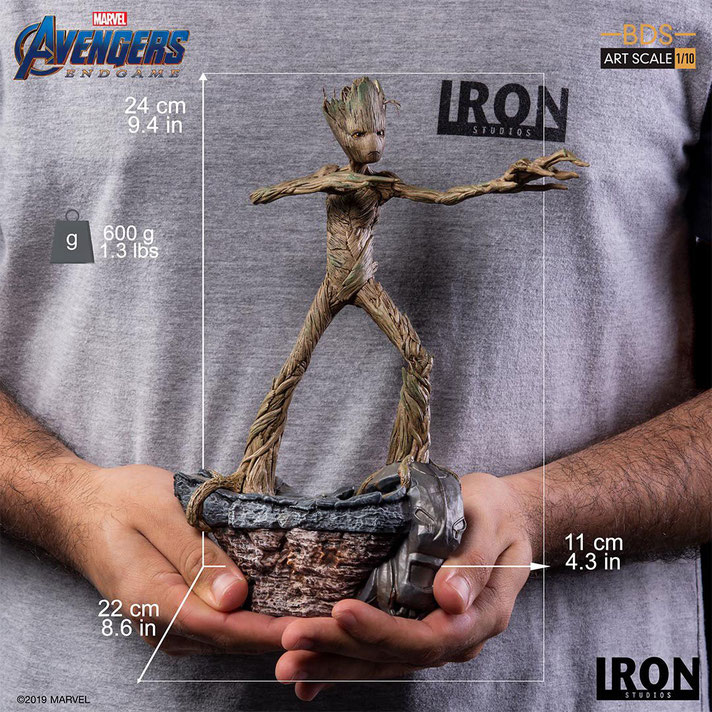 Groot 1/10 Marvel Avengers: Endgame BDS Art Scale Guardians of the Galaxy Resin Statue 24cm Iron Studios