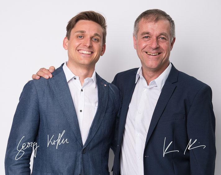DI Georg Kofler (links) und DI Alois Kofler (rechts) - Vermessung Büro Kofler
