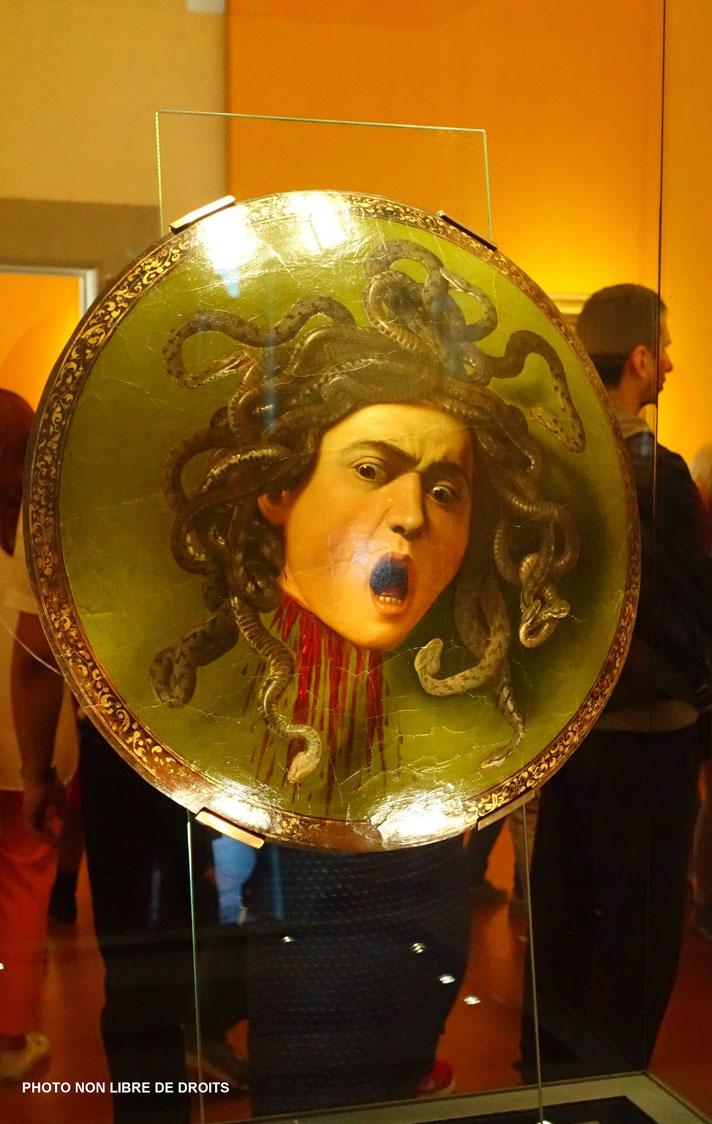 Méduse, Il Caravaggio, Florence, photo non libre de droits