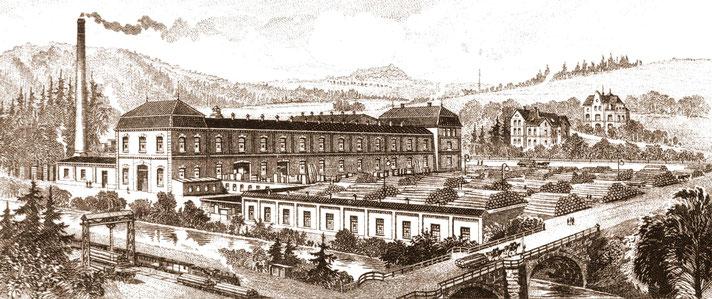 Bild: Wünschenorf Seifertmühle 1905 Erzgebirge