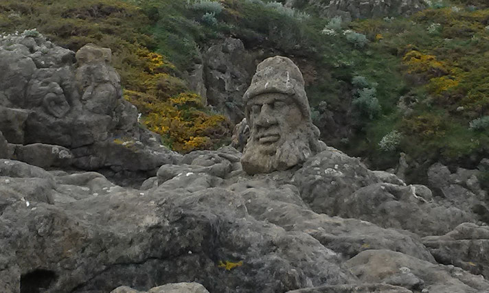 Felsskulpturen in Rothéneuf