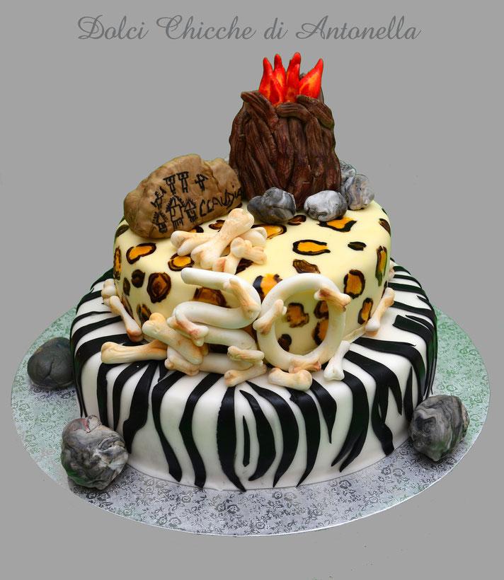 età della prietra-preisotria-animalier- leopardata-zebrata-torte-dolci-la spezia-liguria-feste-party