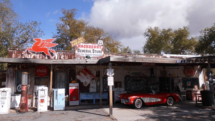 Bild: Hackberry General Store, Route 66; HDW; Hans-Dieter Wuttke