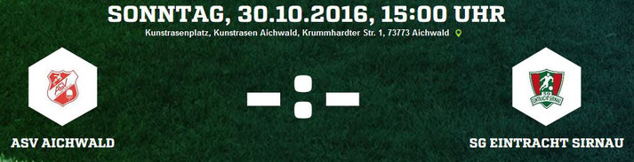 Vorschau | ASV Aichwald - SG Eintracht Sirnau