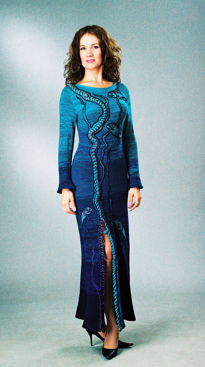 """Alexander Seraphim's knitwear, 2007, """"Underwater Life #2"""""""