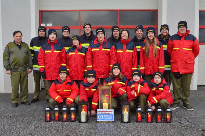 Friedenslicht austragen Feuerwehrjugend Hainersdorf