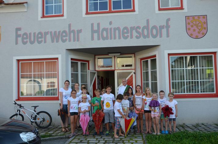 Jungscharlager im Feuerwehrhaus Hainersdorf 2016