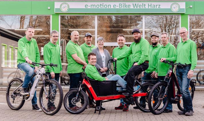 Kostenlose Beratung, Probefahrt und Vergleich von Trekking e-Bikes in der e-motion e-Bike Welt im Harz