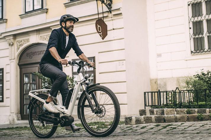 Im Shop in Hanau können Sie sich viele City e-Bikes ansehen.