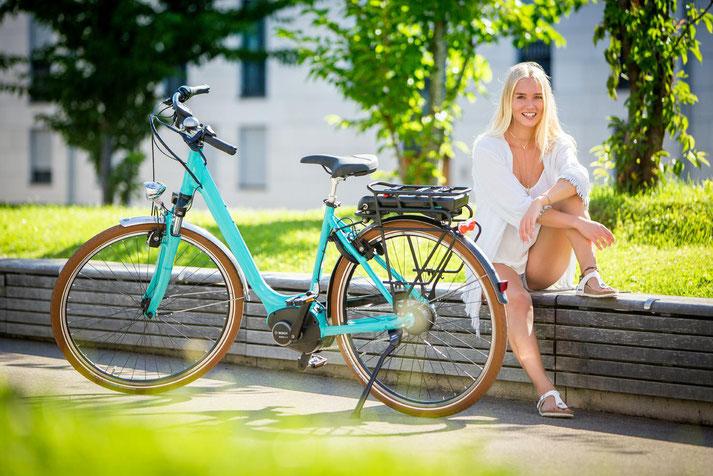 Hercules e-Bikes in der e-motion e-Bike Welt in Oberhausen