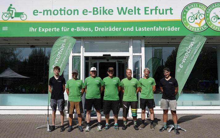 Kostenlose Beratung, Probefahrt und Vergleich von Trekking e-Bikes in der e-motion e-Bike Welt in Erfurt