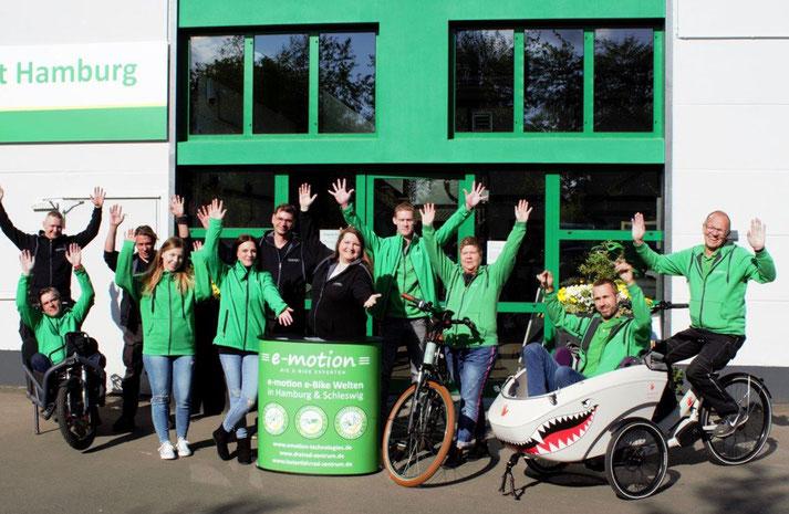 Kostenlose Beratung, Probefahrt und Vergleich von Trekking e-Bikes im e-motion e-Bike Premium Shop in Hamburg