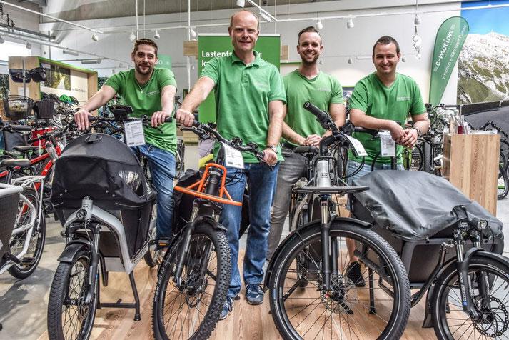 Unsere Experten in Hanau können Sie bei allem rund um's Lasten e-Bike beraten