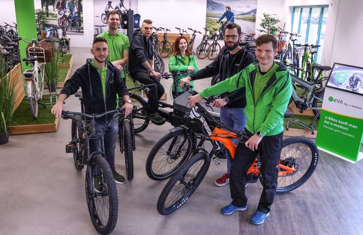 Im Shop in Gießen können Sie sich viele verschiedene City e-Bikes ansehen