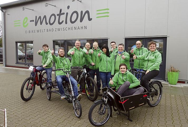 Team der e-motion e-Bike Welt Bad Zwischenahn