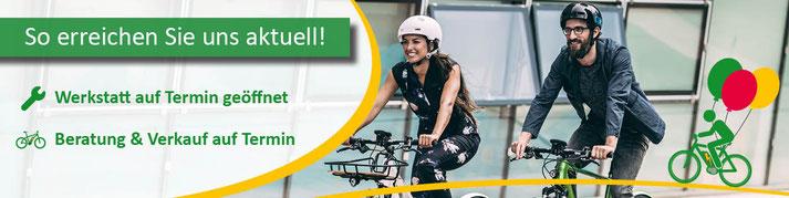 Lasten e-Bikes und alles drum herum finden Sie im Shop in Hiltrup