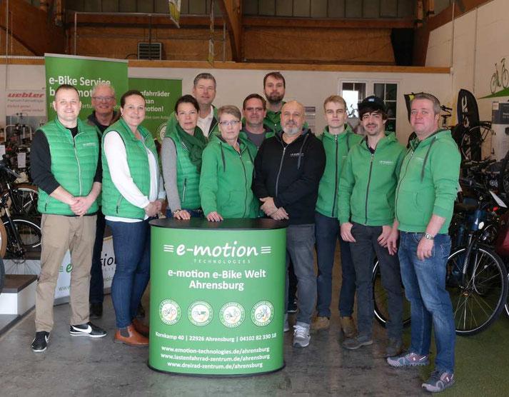 Das Team der e-motion e-Bike Welt Ahrensburg
