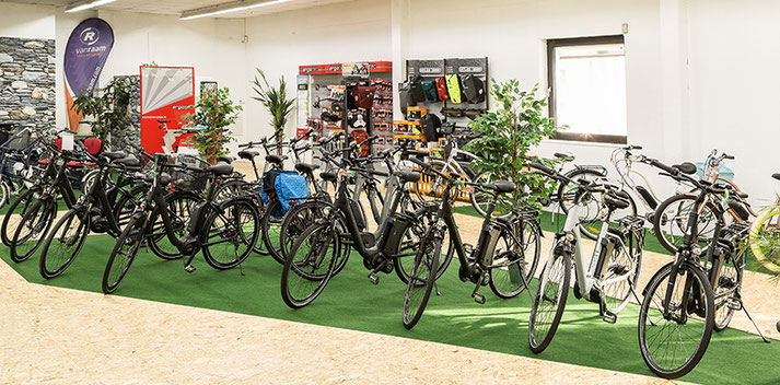 Die e-motion e-Bike Welt in Nürnberg bietet eine breite Auswahl an e-Bikes und Zubehör an.