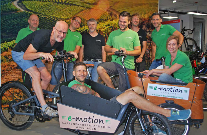 Elektrofahrräder probefahren und kaufen in der e-motion e-Bike Welt Wiesbaden