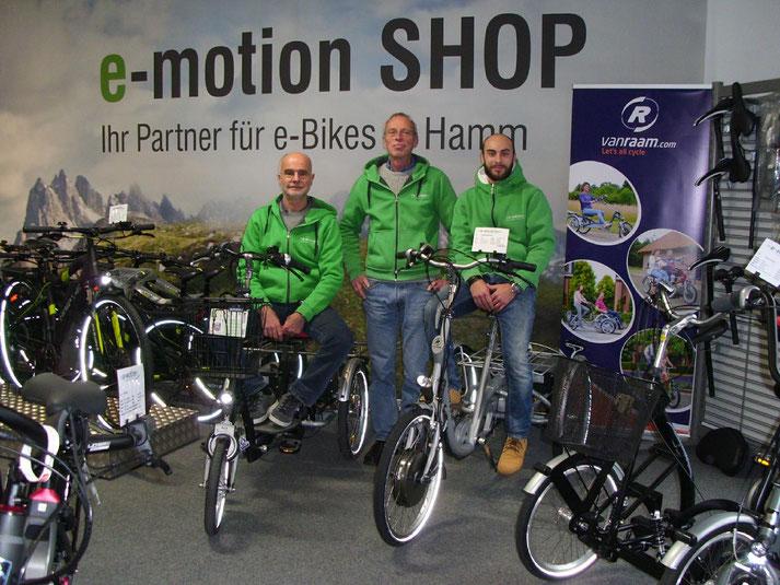 Im Shop in Hamm können Sie sich viele verschiedene City e-Bikes ansehen